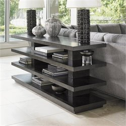 Lexington Carrera Elise Wood Console Table in Carbon Gray