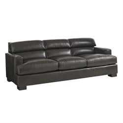 Lexington Carrera Toscana Leather Sofa in Olive Green