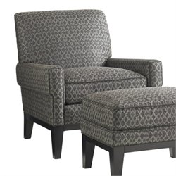 Lexington Carrera Giovanni Fabric Chair in Dark Gray