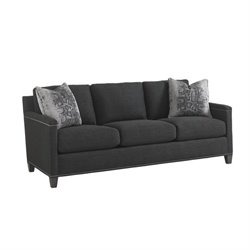 Carrera Strada Fabric Sofa in Dark Gray