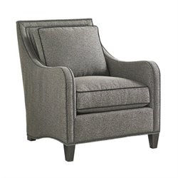 Lexington Carrera Koko Nailhead Fabric Accent Chair in Greystone