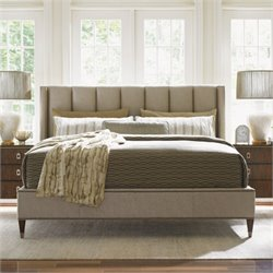 Lexington Tower Place Barrington Upholstered Platform Bed in Rose Gold