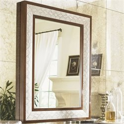 Lexington Tower Place Python Mirror in Beige Gray