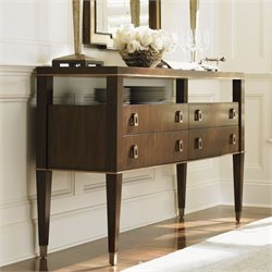 Lexington Tower Place Lake Shore 4 Drawer Wood Sideboard in Walnut