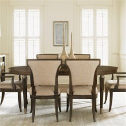 Lexington Tower Place Drake Oval Wood Dining Table in Walnut