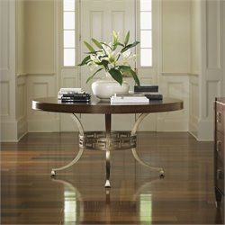 Lexington Tower Place Regis Round Wood Dining Table in Walnut