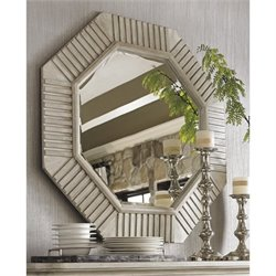 Lexington Oyster Bay Selden Octagonal Wall Mirror in Oyster