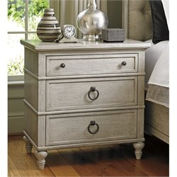 Lexington Oyster Bay Cedarhurst 3 Drawer Nightstand in Oyster