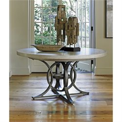 Lexington Oyster Bay Calerton Round Pedestal Dining Table in Oyster