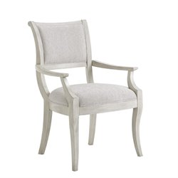 Lexington Oyster Bay Eastport Upholstered Dining Arm Chair in Pearl