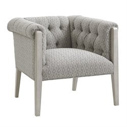 Lexington Oyster Bay Brookville Tufted Fabric Arm Chair in Milllstone