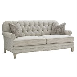 Oyster Bay Hillstead Tufted Loveseat in Millstone