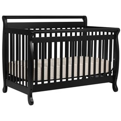 Emily 4-in-1 Convertible Wood Baby Crib with Toddler Rail