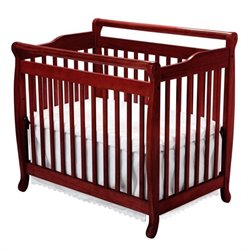 Emily Mini 2-in-1 Convertible Crib with Twin Bed Rails