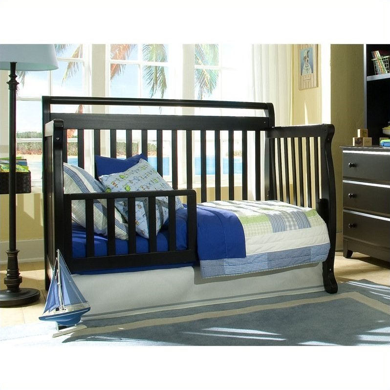 Davinci emily 4 in 1 convertible crib with changing table for Rock n roll baby crib set
