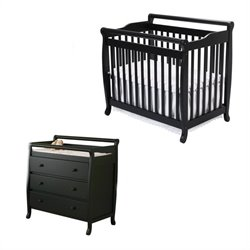 Emily Mini 2-in-1 Convertible Crib with Changing Table