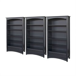 DaVinci Roxanne 5 Shelf Wall Bookcase in Ebony