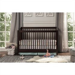 DaVinci Highland 4-in-1 Convertible Crib with Toddler Rail in Espresso
