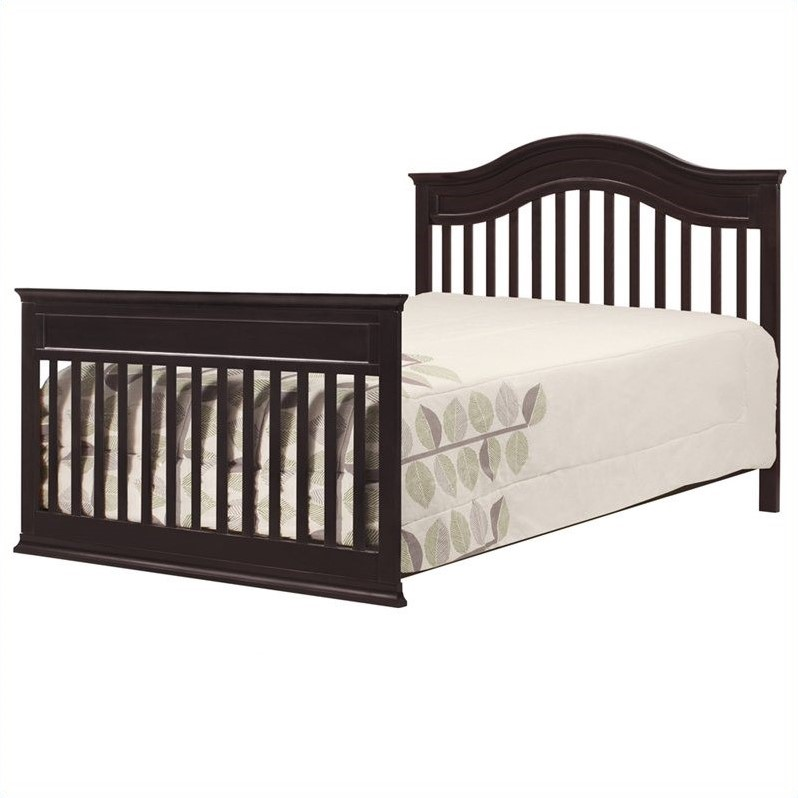 Davinci brook 4 in 1 convertible crib 3 piece set in dark for Rock n roll baby crib set