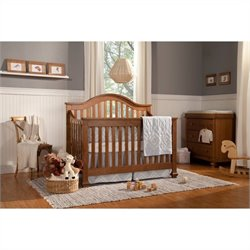 Clover 4-in-1 Convertible Crib with Crib Mattress