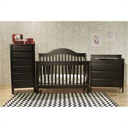 Jayden 4-in-1 Convertible Crib with Crib Mattress