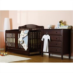 DaVinci Richmond 4-in-1 Convertible Crib in Espresso with Crib Mattress