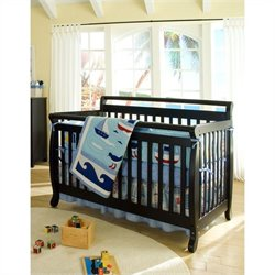 Emily 4-in-1 Convertible Crib with Crib Mattress