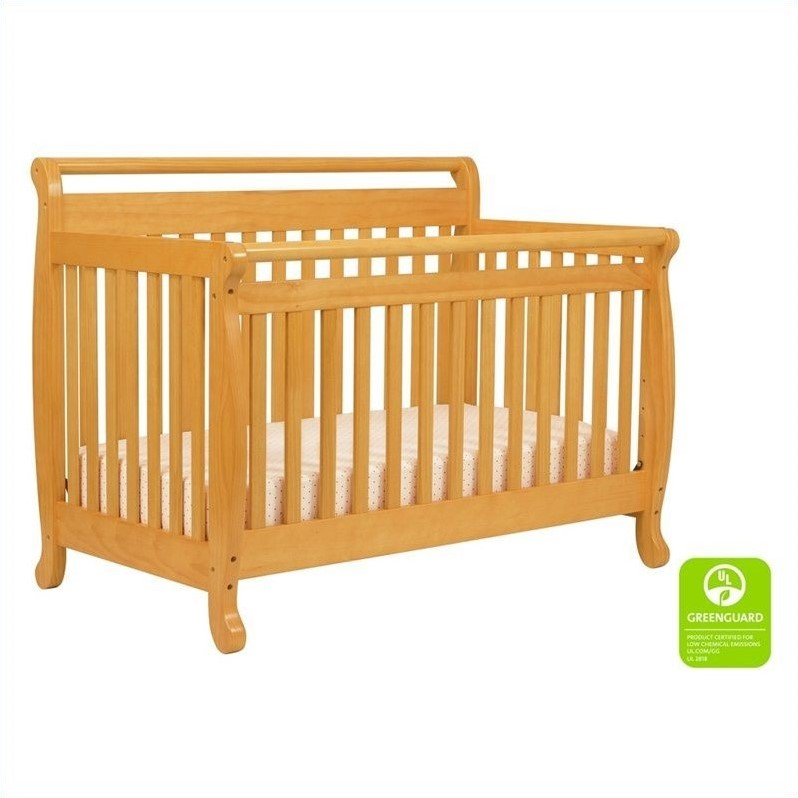 Davinci Emily 4 In 1 Convertible Crib In Honey Oak With