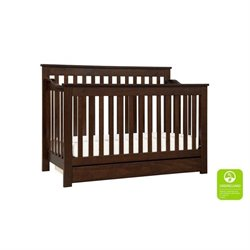 Piedmont 4-In-1 Convertible Crib with Toddler Rail with Mattress