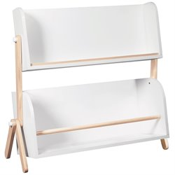Babyletto Tally 2 Shelf Storage Bookshelf in White and Washed Natural