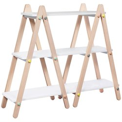 Babyletto 3 Shelf Bookcase in White and Washed Natural