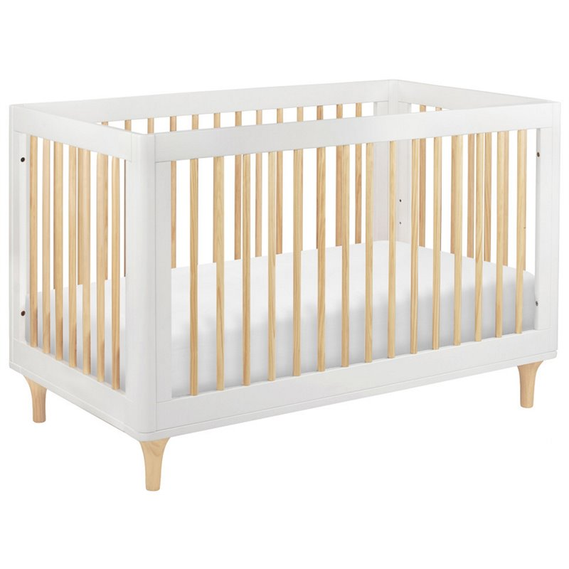Babyletto Lolly 3-in-1 Convertible Crib in White and Natural