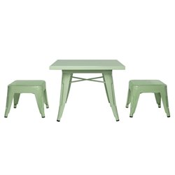 Babyletto Lemonade Playset Table and Backless Stools in Mint