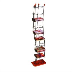 Atlantic Inc Wave 74 DVD Storage Tower in Black and Cherry