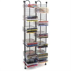 100 Nestable CD Storage Tower in Gunmetal