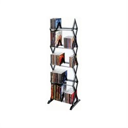 5-Tier Multimedia Shelving in Smoke