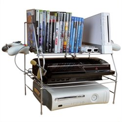 Wire Gaming Rack in Silver