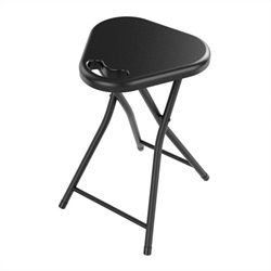 Folding Stool with Handle in Black (Set of 4)