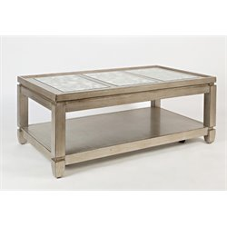 Jofran Casa Bella Coffee Table in Vintage Silver