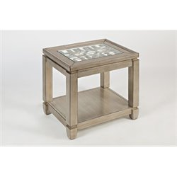 Jofran Casa Bella End Table in Vintage Silver