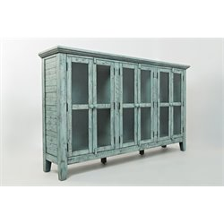 Jofran Rustic Shores Accent Chest in Vintage Blue