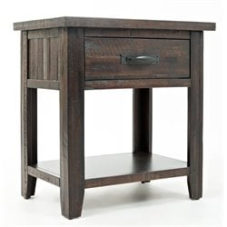 Jofran Jackson Lodge Youth 1 Drawer Nightstand in Deep Chocolate