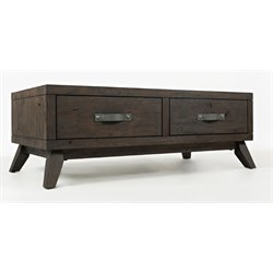 Jofran Sumatra Modern Coffee Table in Dark Roast Brown