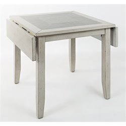 Jofran Sarasota Springs Drop Leaf Dining Table in Gray