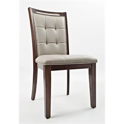 Jofran Manchester Faux Leather Upholstered Dining Chair (Set of 2)