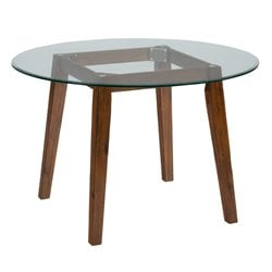 Jofran Plantation Round Glass Top Dining Table