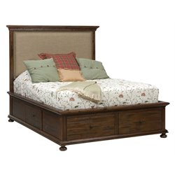 Jofran Geneva Hills Upholstered Storage Panel Bed