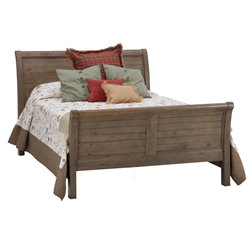 Jofran Slater Mill Sleigh Bed in Medium Brown