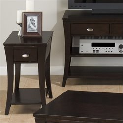 Jofran 629 Series Chairside Table in Manhattan Espresso