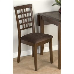Jofran 976 Series Fabric Dining Chair in Caleb Brown (Set of 2)